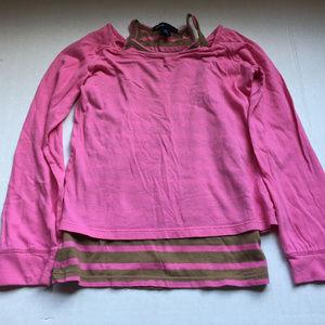 Gap Kids Pink Long Sleeve Top XS 4-5